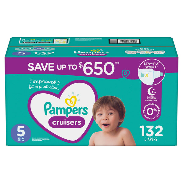 Pampers Cruisers Diapers Size 5 132 ct.