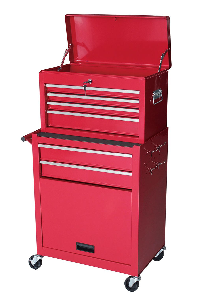Gstandard 2-Pc. 6 - Drawer Rolling Tool Storage Chest - Red