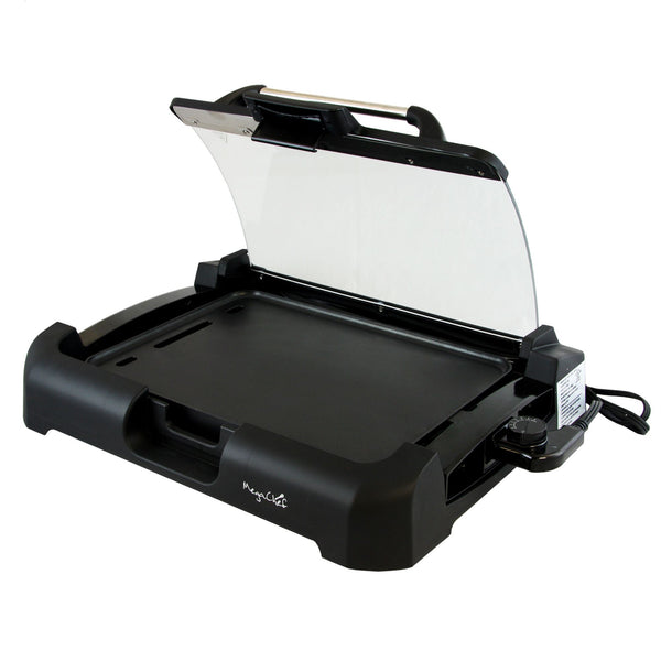 MegaChef Reversible Indoor Grill and Griddle w/ Removable Glass Lid