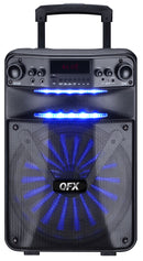 "QFX 12"" Rechargeable Bluetooth Party Speaker w/ Speaker Pro App Control"