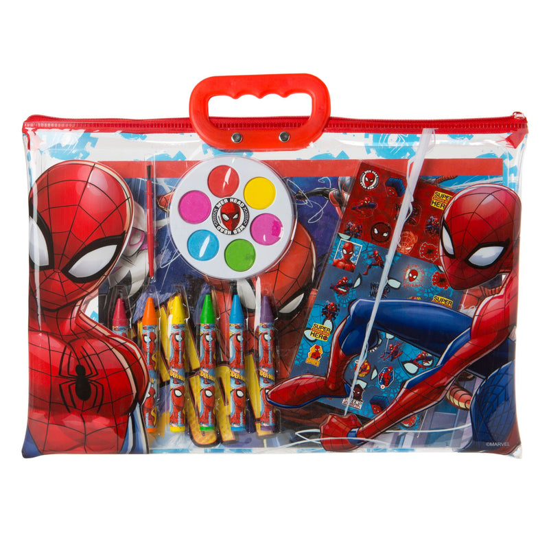 12-Pc. Color and Paint Tote - Spider-Man