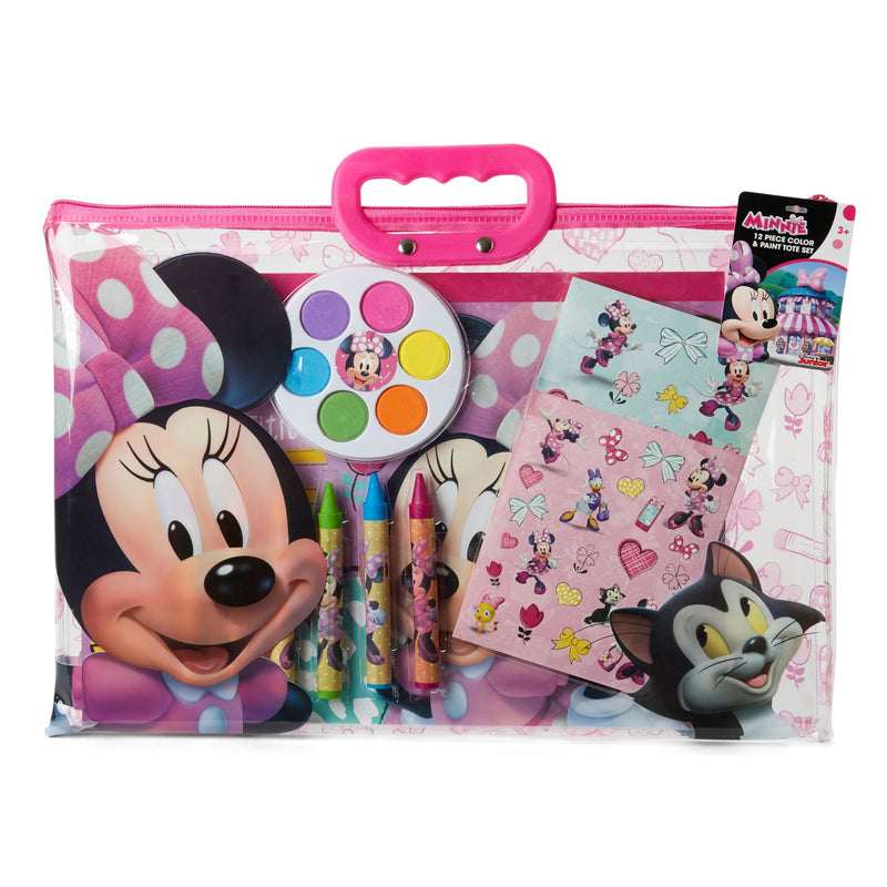 12-Pc. Color and Paint Tote - Minnie Mouse