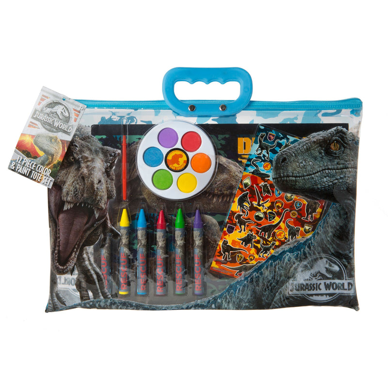 12-Pc. Color and Paint Tote - Jurassic Park
