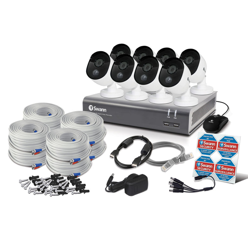 Swann 8-Channel 8-Camera 1080p PIR Security System w/ 1TB HDD DVR