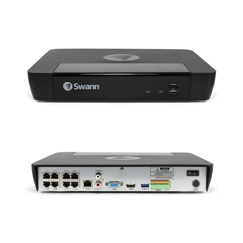 Swann 8-Channel 8-Camera 4K Security System w/ 2TB HDD NVR