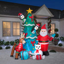 Gemmy Airblown Inflatable Animated Santa and Friends w/ Kaleidoscope Lighting