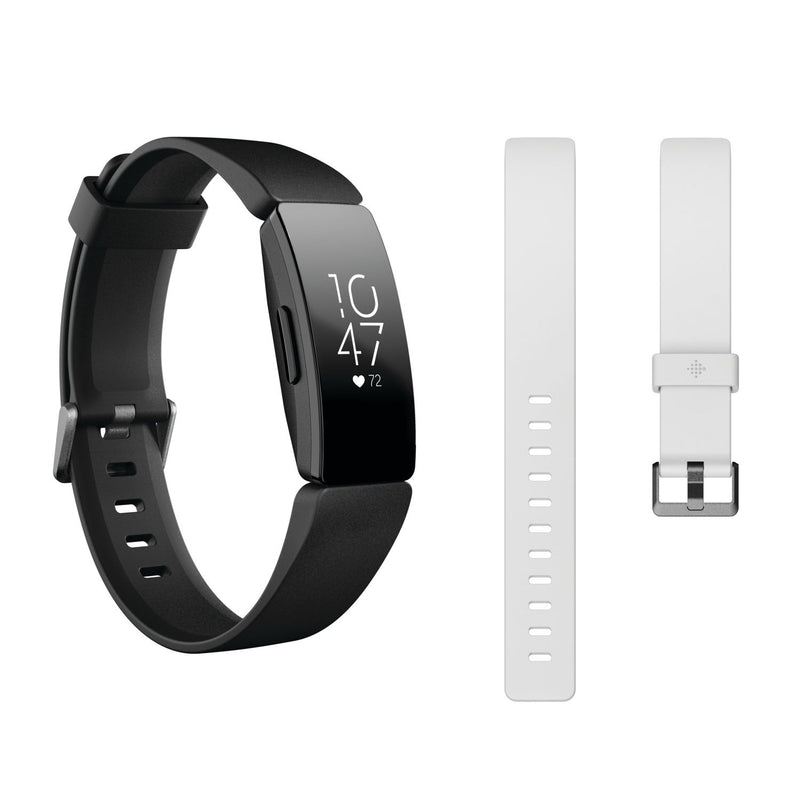 Fitbit Inspire HR Activity Tracker w/ Bonus Bands - Black and White