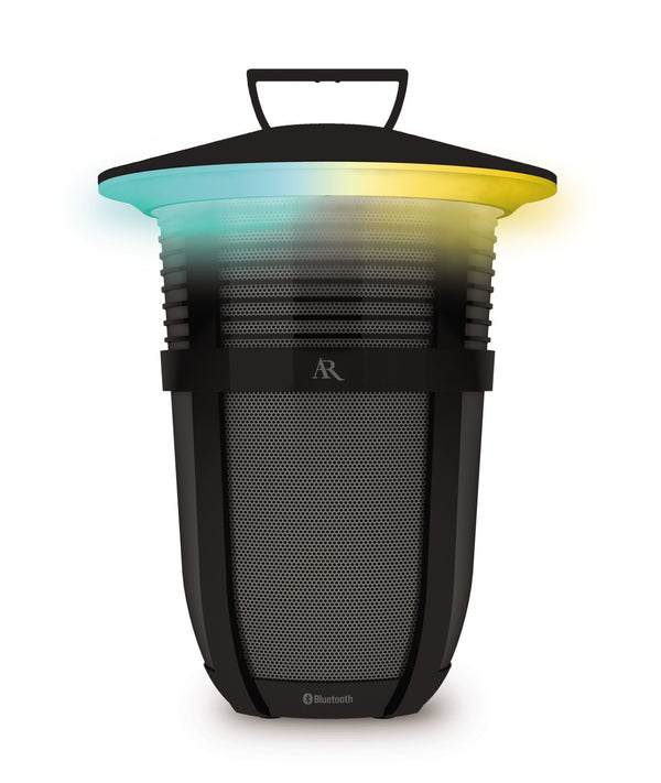 Acoustic Research Portable Indoor/Outdoor Bluetooth Wireless Speaker w/ Color Changing Light Modes