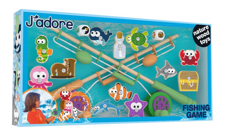 J'adore Wooden Fishing Game