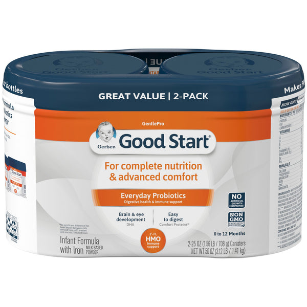 Gerber Good Start Gentle HMO Infant Formula w/ Iron 2 pk./25 oz.