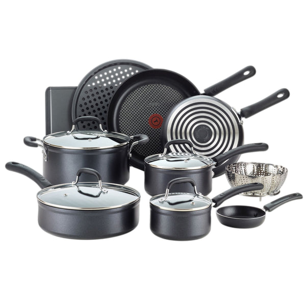 T-fal 14-Piece Forged Aluminum Non-Stick Cookware Set
