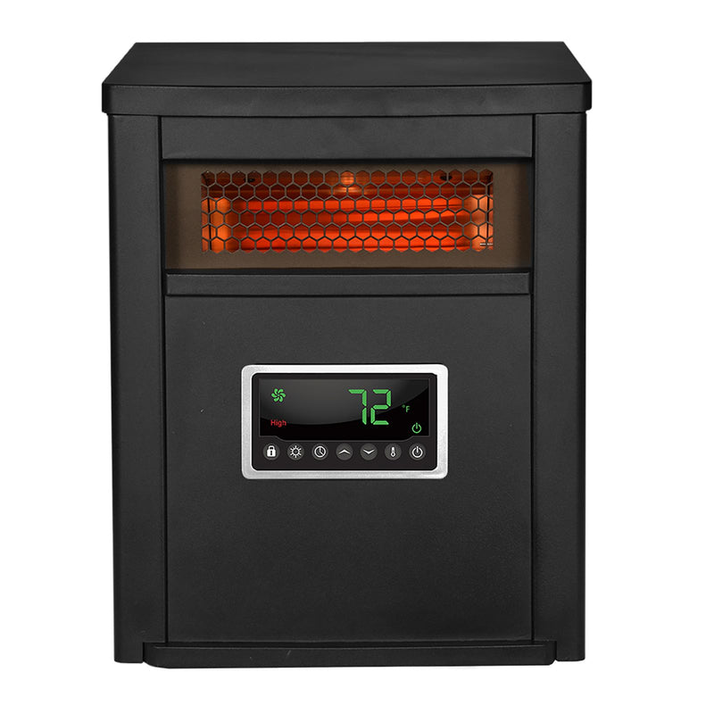 Lifesmart 6 Element Large Room 1500W Infrared Space Heater w/ Remote - Metal Cabinet