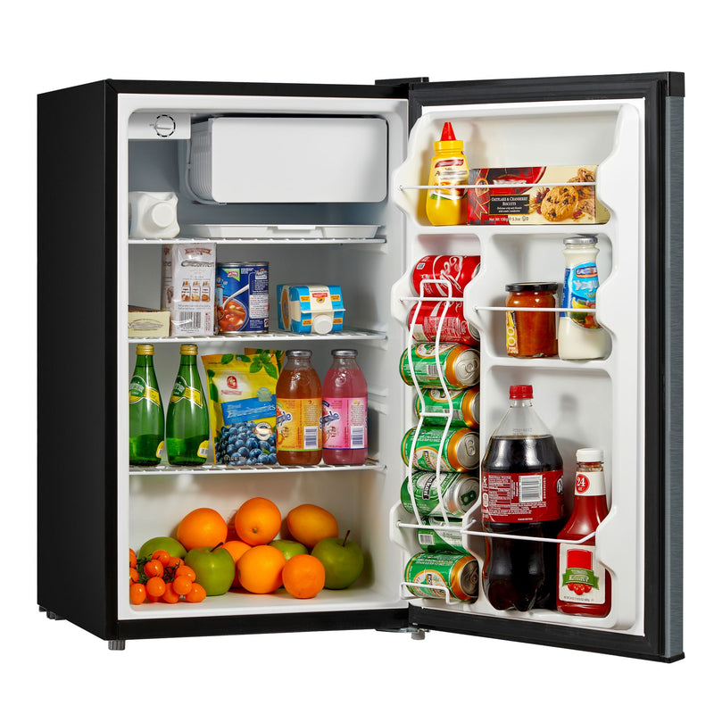 Emerson 4.4-Cu-Ft. Single Door Compact Refrigerator - Black Stainless Steel