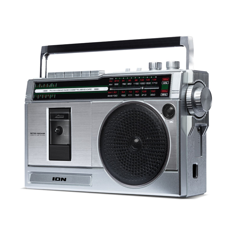 ION Audio Retro Rocker Portable Boombox w/ Bluetooth