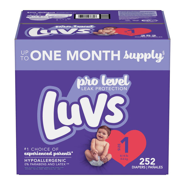 Luvs Ultra Leakguards Diapers Size 1 252 ct.