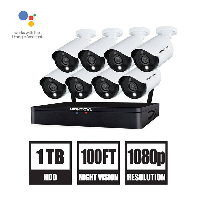 Night Owl 16-Channel 8-Camera 1080p Hybrid Security System w/ 1TB HDD DVR