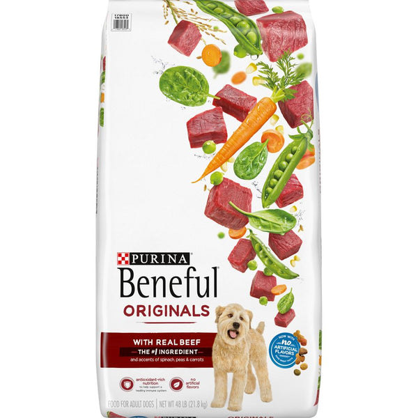 Purina Beneful Originals w/ Real Beef Dog Food 48 lbs.