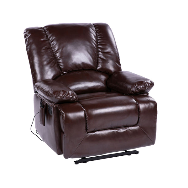 Lifesmart Faux Leather Recliner w/ Heat and Massage