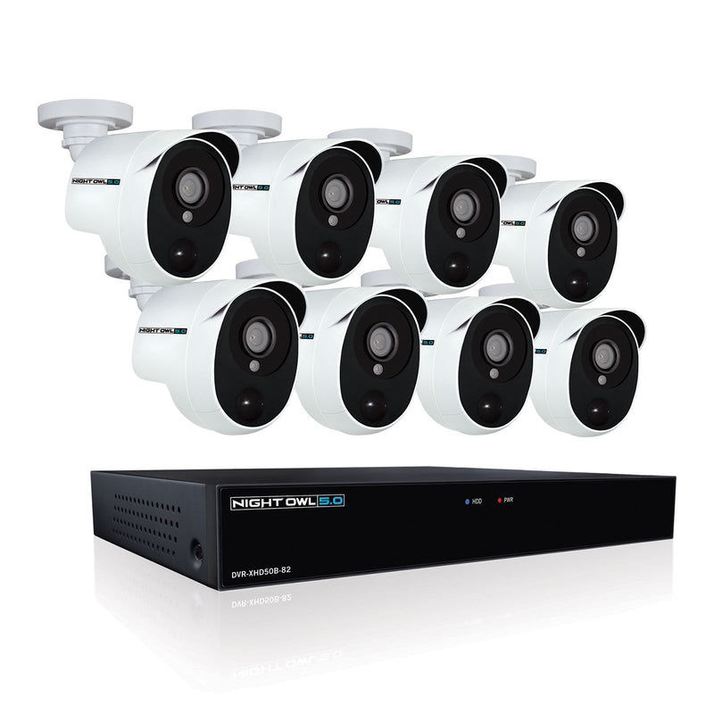 Night Owl 8-Channel 8-Camera 5MP Security System w/ 2TB HDD DVR