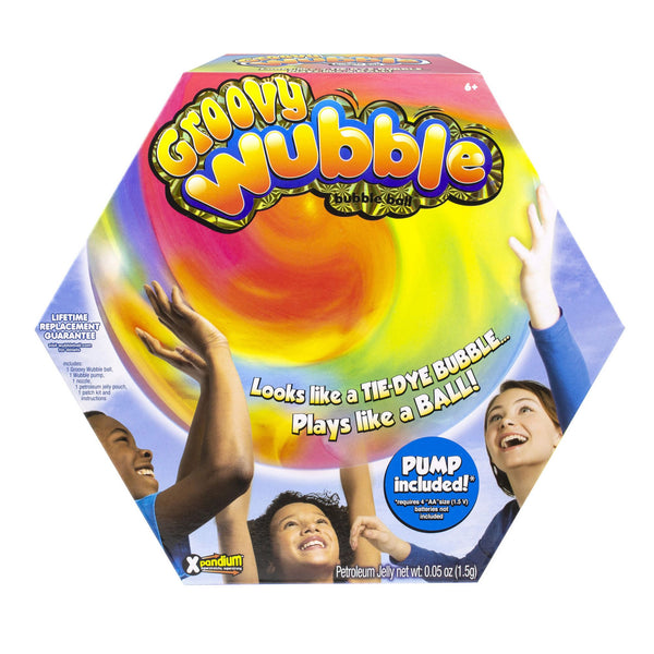 Wubble Groovy Wubble w/ Pump - Red/Blue/Yellow