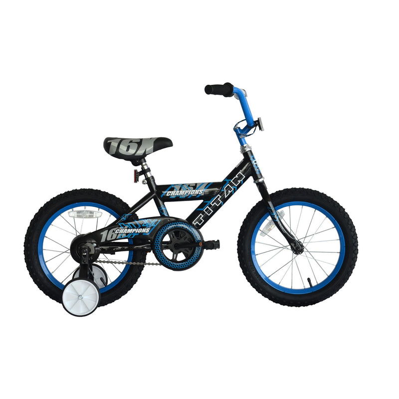 "Titan Champions Boys 16"" BMX Bicycle - Black"