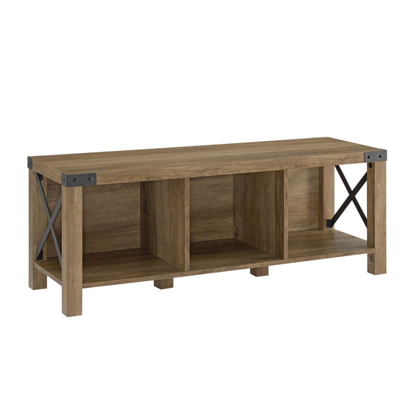 "W. Trends 48"" Farmhouse Wood Entryway Bench - Reclaimed Barnwood"