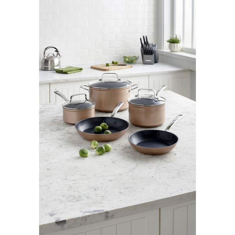KitchenAid 8-Pc. Hard Anodized Non-Stick Cookware Set - Toffee Delight