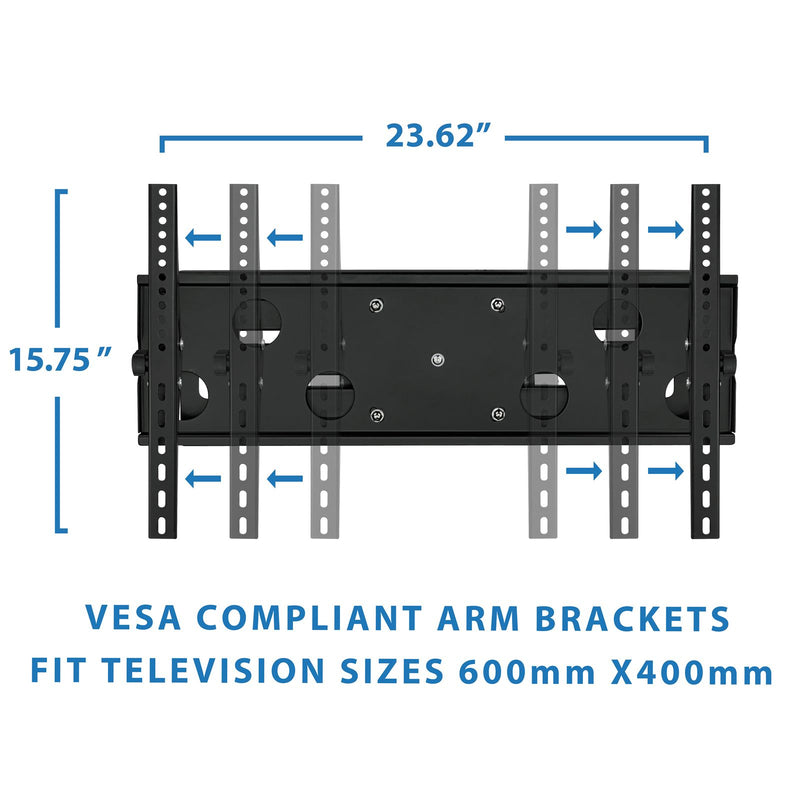 "Mount-It MI-2291 Adjustable Wall Mount for 32-60"" Flat-Panel TVs"