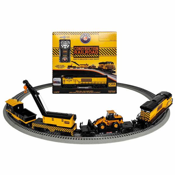 Lionel Construction Railroad Electric O Gauge Model Train Set w/ Remote and Bluetooth