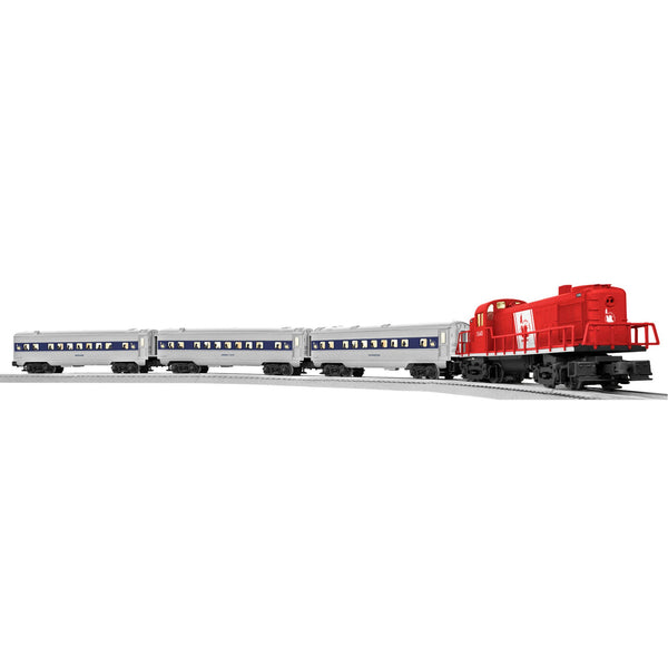 Lionel Central New Jersey Passenger Electric O Gauge Model Train Set w/ Remote and FasTrack Expansion Pack