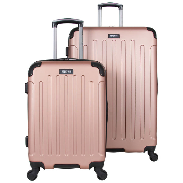 "Kenneth Cole Reaction 20"" and 28"" ABS Expandable 4-Wheel Two Piece Luggage Set- Ice Blue"