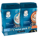 Gerber Single Grain Rice Cereal and Oatmeal Cereal 2 ct./16 oz.