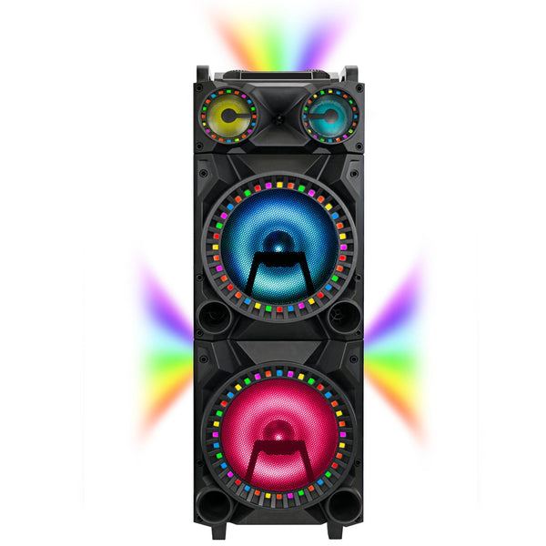 "QFX 12"" DJ Speaker w/ Surround Lights"