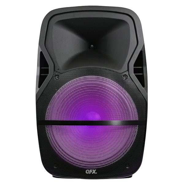 "QFX 15"" Rechargeable Battery Powered Bluetooth Speaker w/ Equalizer"