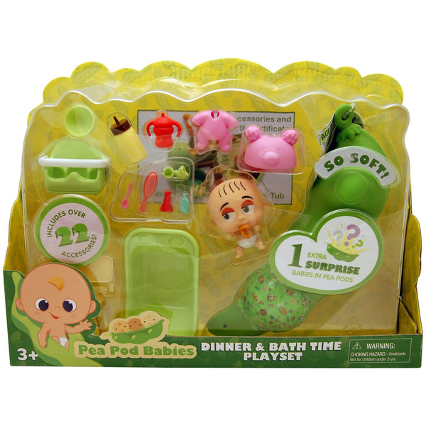 Pea Pod Babies 25-Pc. Dinner and Bath Playtime Set