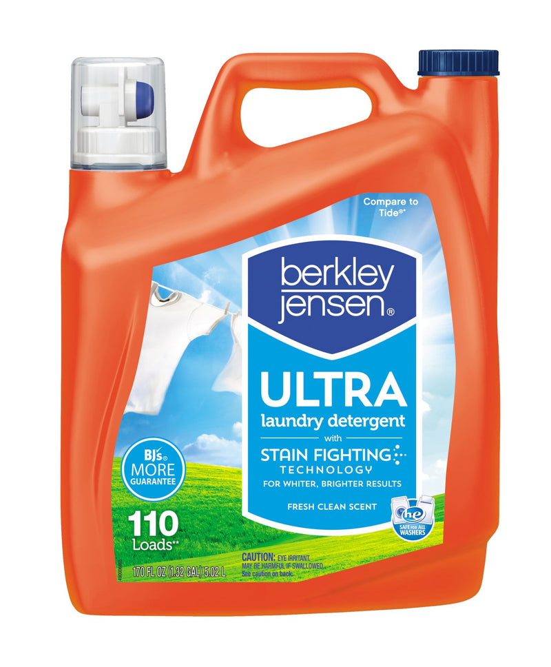 Berkley Jensen Ultra Liquid Laundry Detergent 170 fl. oz.