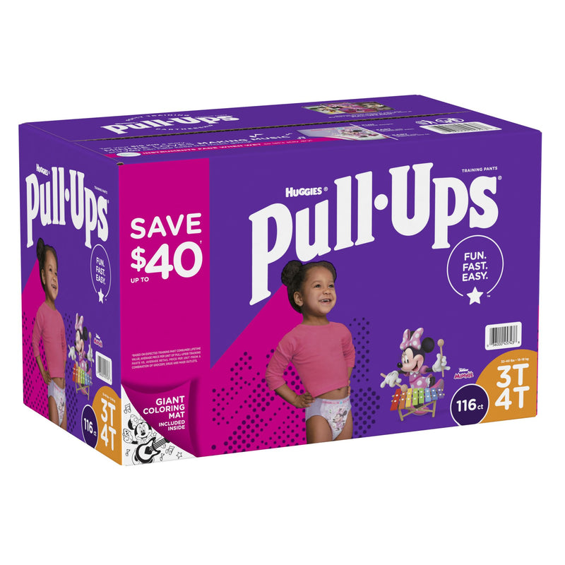 Huggies Pull-Ups Learning Designs Training Pants for Girls Size 3T-4T 116 ct.