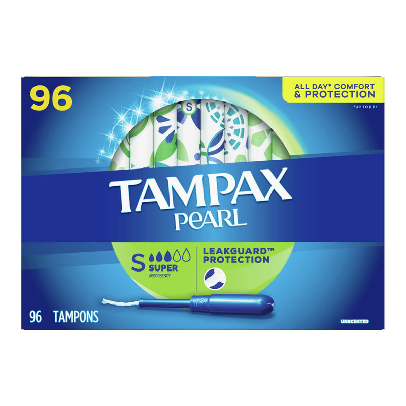 Tampax Pearl Super Unscented Tampons 96 ct.