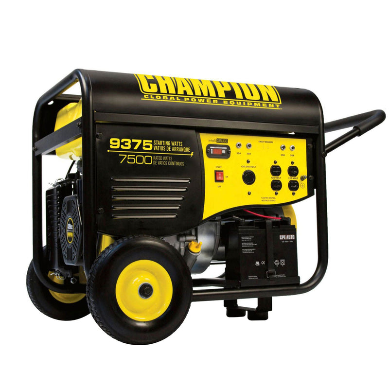 Champion Power Equipment 9375W Peak/7500W Rated Gas-Powered Portable Generator w/ Electric Start