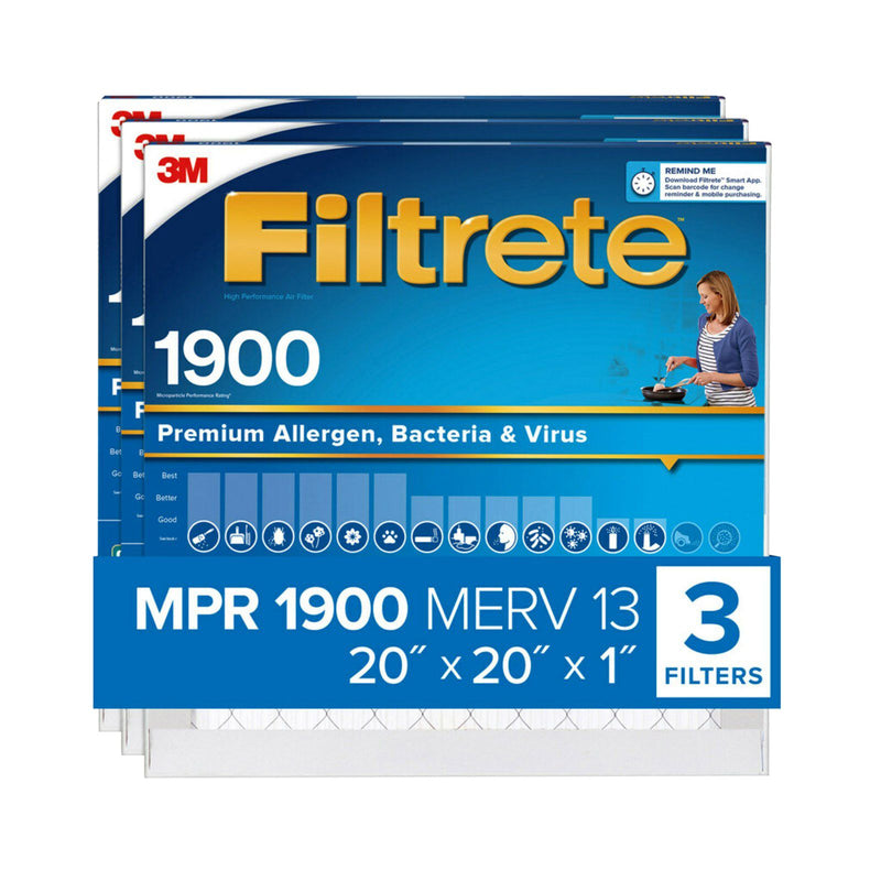 "Filtrete 20"" x 20"" x 1"" Ultimate Allergen Reduction Filters 3 pk."