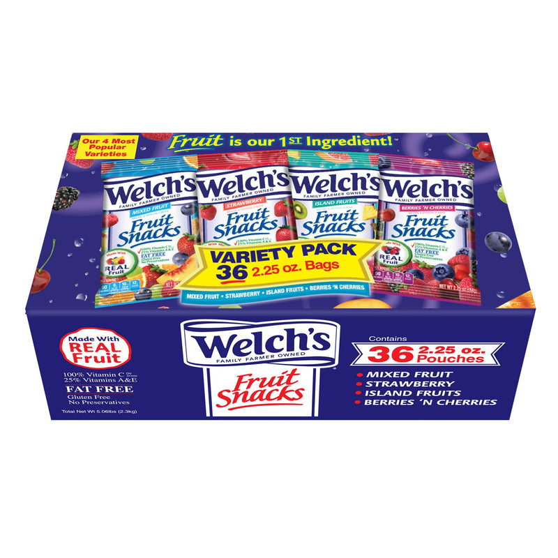 Welch's Mixed Fruit Fat Free Fruit Snacks 36 ct./2.25 oz.