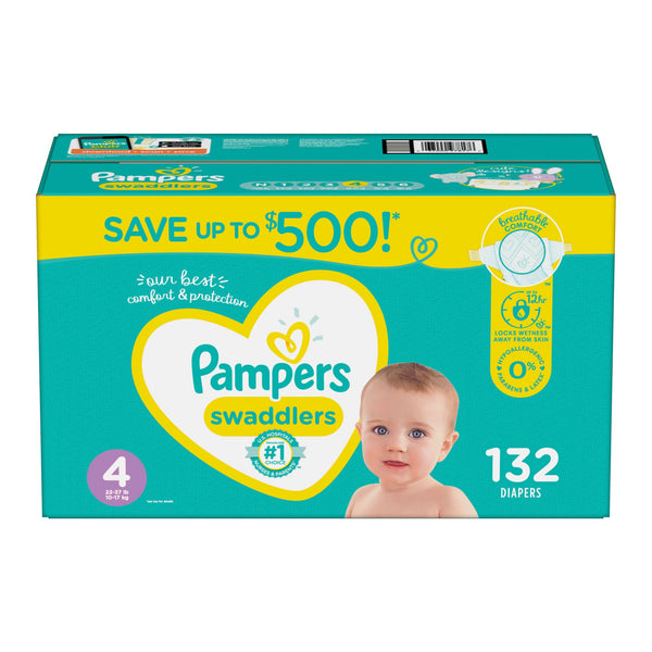 Pampers Swaddlers Diapers Size 4 132 ct.