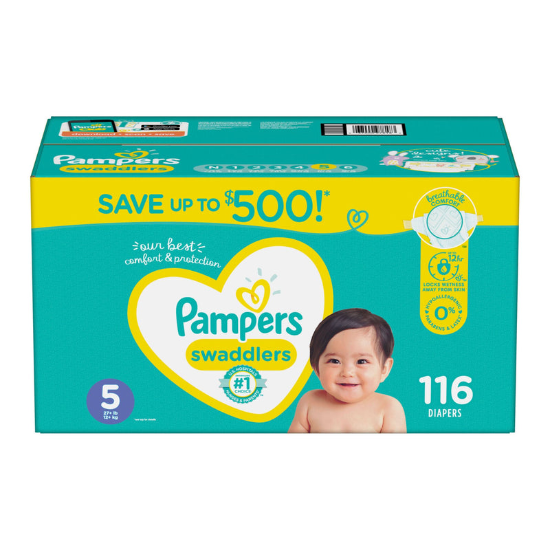 Pampers Swaddlers Diapers Size 5 116 ct.