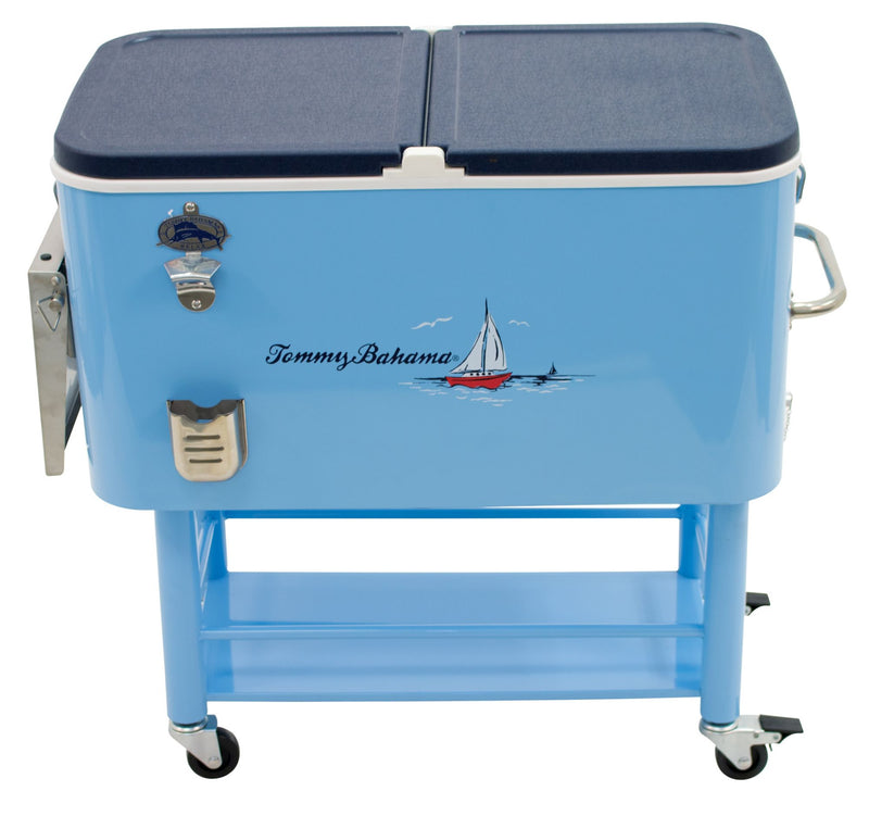 Tommy Bahama 100-Qt. Cooler - Silver/Blue