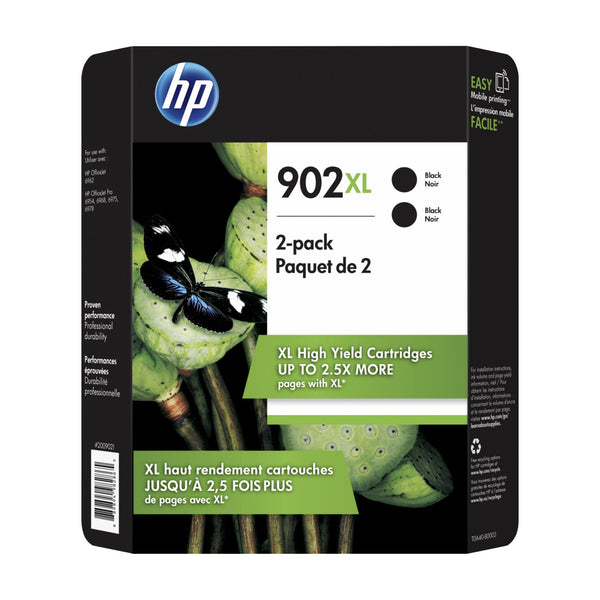 HP 902XL Black Ink Cartridges 2 pk.