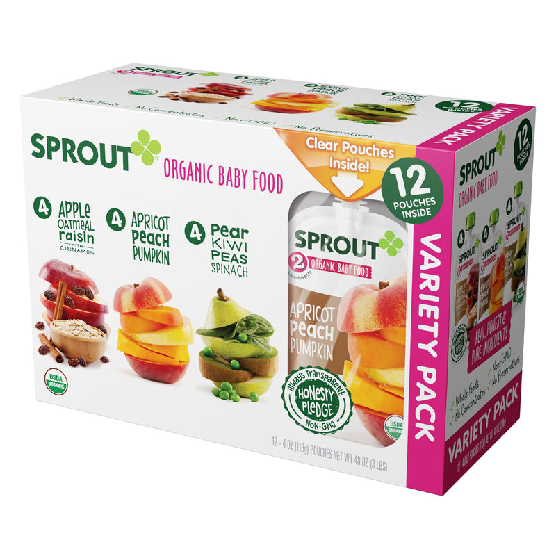 Sprout Organic Baby Food Variety Pack 12 ct./4 oz.