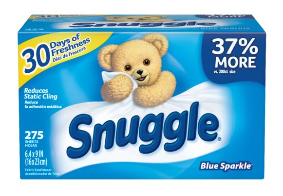Snuggle Blue Sparkle Dryer Sheets 275 ct.