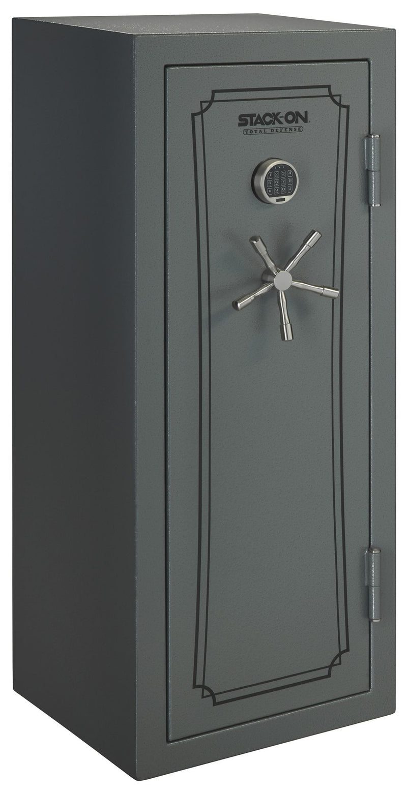 Stack-On Total Defense 24-Gun Convertible Executive Safe w/ Electronic Lock - Gray Pebble