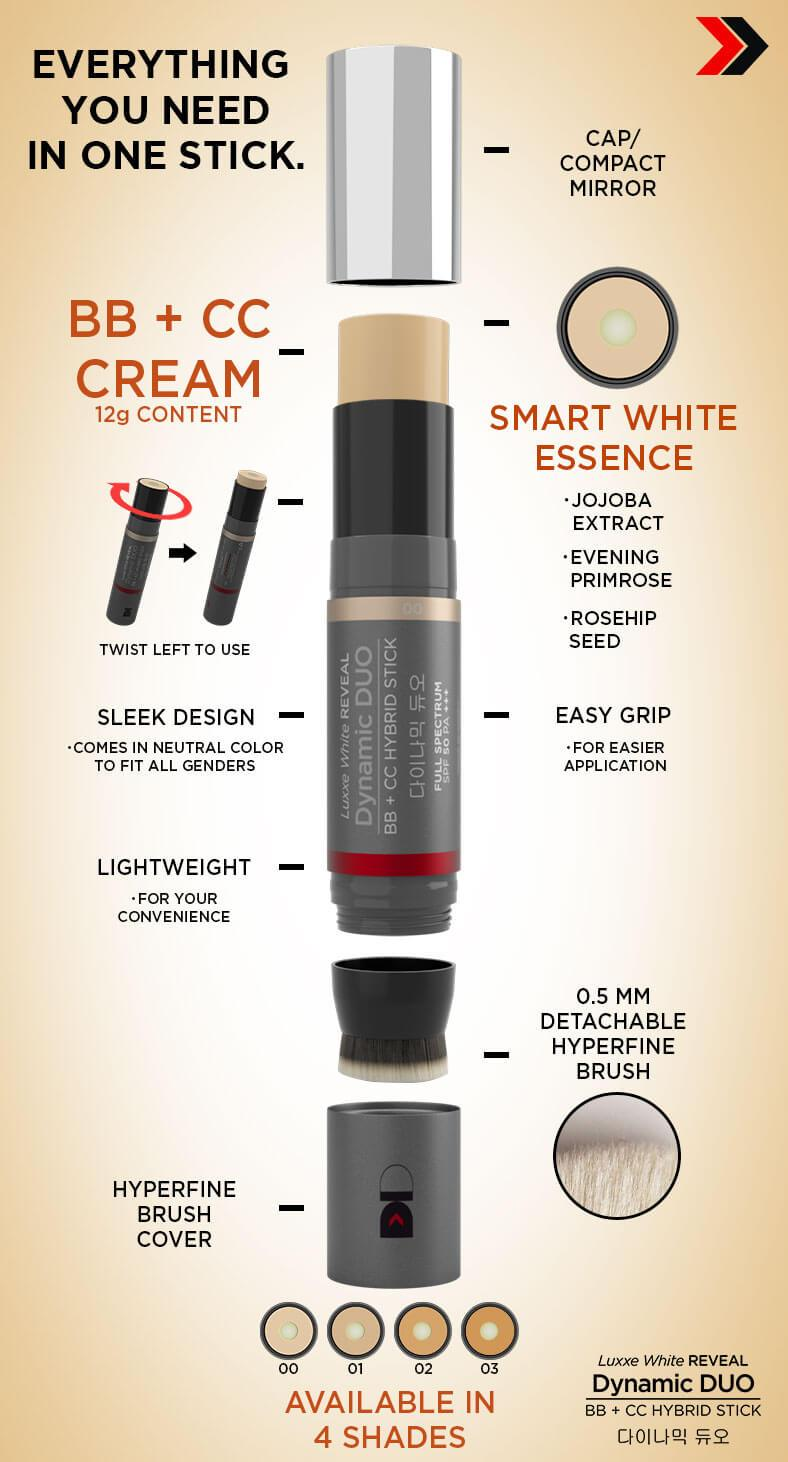 DYNAMIC DUO BB + CC HYBRID STICK - SPF50 PA