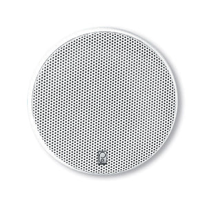 "Poly-Planar 5.25"" Platinum Round Marine Speaker - (Pair) White"